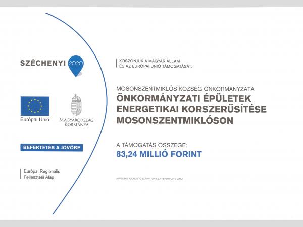Tájékoztató az önkormányzati épületek energetikai felújításáról, annak lakosságot érintő következményeiről               TOP 3.2.1-15