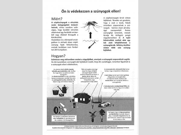 Gy-M-S Megyei Kormányhivatal lakossági tájékoztatója a szúnyogok elleni védekezéssel kapcsolatban