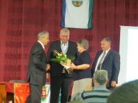 Stergerits József Mosonszentmiklós községért Érdemérem-posztumusz díját felesége vette át