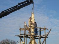 2008. 03. Mária szobor felújítása - elbontás