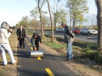 2008. 10.  Kerékpárút átadás